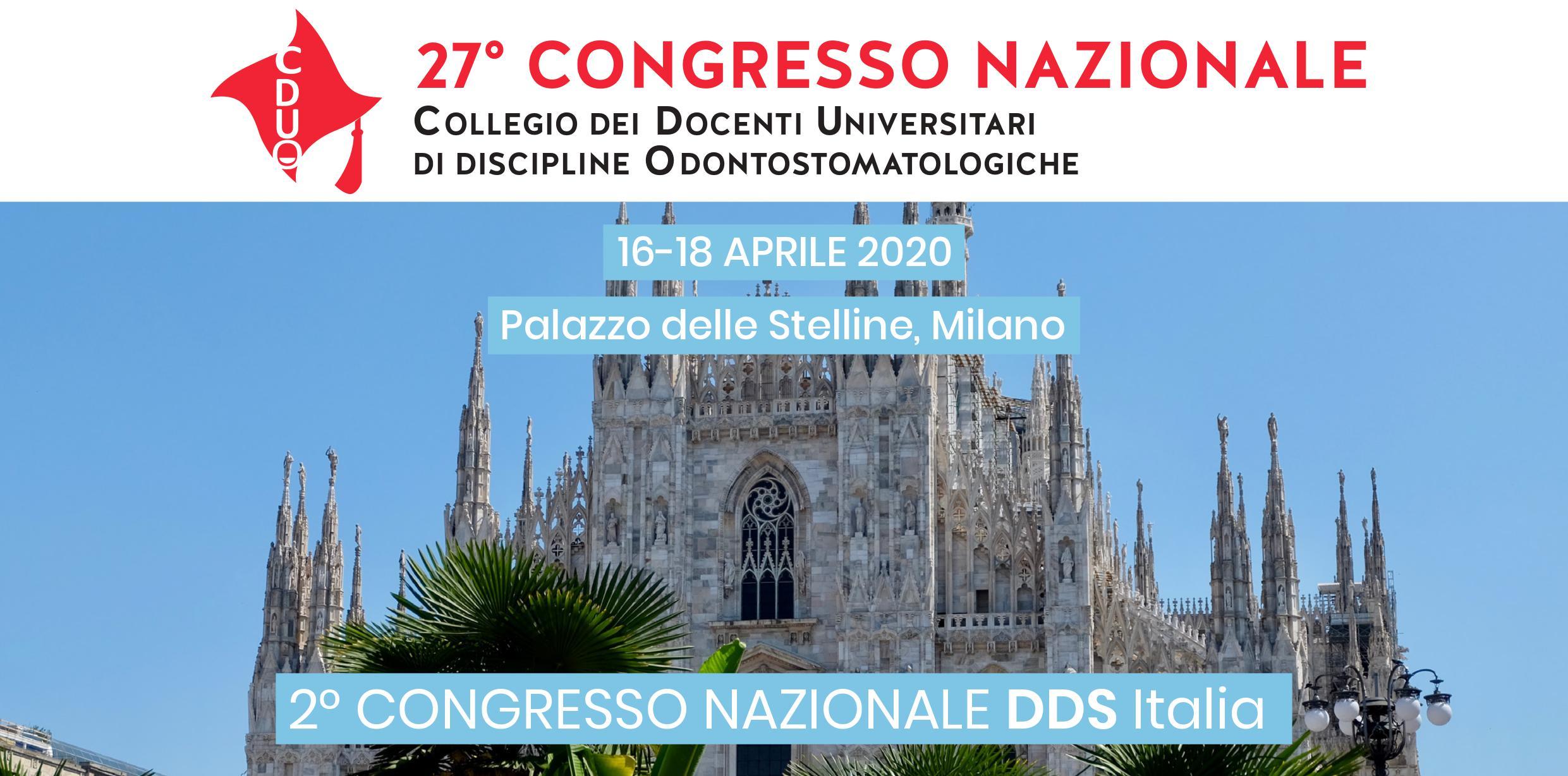 congresso nazionale DDS Italia a Milano
